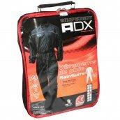 COMBINAISON DE PLUIE ADX NOIR    XS  (CEINTURE D'AJUSTEMENT + SOUFFLET AVEC ZIP ET PRESSIONS AU PIED + SAC DE TRANSPORT)